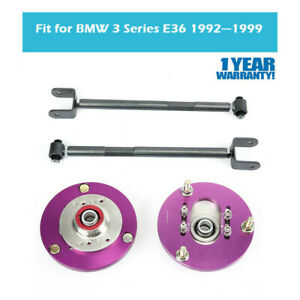For Bmw E36 3 Series 323 325 328 Coilover Camber Plate Rear Control Arm Purple