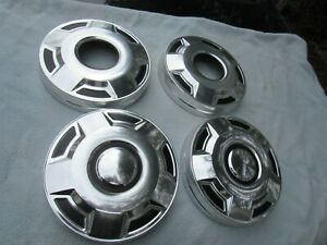 Ford Oem Set Of 4 Dog Dish Center Hub Caps 1970s 1990s 4 X 4 Truck Pickup Vgc