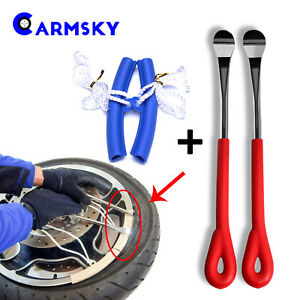 Bike Motorcycle Tire Repaire Kit Nonskid Spoon Lever Tool Wheel Rim Protector