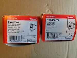 Legrand Pw 100 w Pir Wall Switch Sensor Set Of 2 New In Original Boxes White