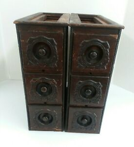 Pr Ornate Singer Treadle Sewing Machine Drawers