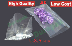 1000 25000 Clear Flat Open Top Poly Bag 1 5 Mil Ldpe Food Safe Various Sizes