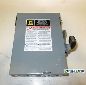 Du222rb Nonfusible General Duty Safety Switch Disconnect 60a 240v 2p 1ph Nema 3r