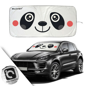 Front Car Windshield Sun Shade Visor Suv Window Folding Big Cartoon Block Cover