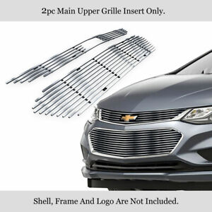 Fits 2016 2018 Chevy Cruze Upper Stainless Hairlines Billet Grille Grill Insert