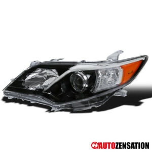 For 2012 2014 Toyota Camry Se Left Slick Black Clear Projector Headlight Lamp