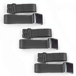 Ford Truck 1953 1956 Airplane 2 Pt Charcoal Lap Bucket Seat Belt Kit 2