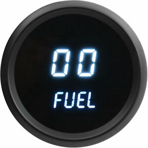 Jegs Performance Products 41413 Fuel Level Gauge Led Digital 99 Read Out 2 1 16