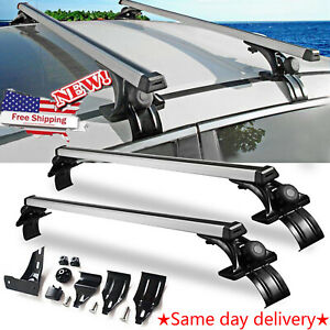 2x Universal Car Top Roof Cross Bar Luggage Cargo Carrier Rack W 3 Kinds Clamp