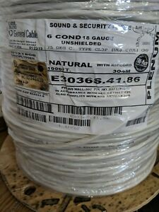 18awg 6cond Shielded Riser Rated 1000ft General Cable 1000 Ft