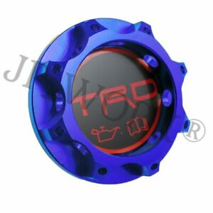 For Jdm Trd Racing Engine Oil Filler Cap Tank Cover Aluminium For All Toyota Blu