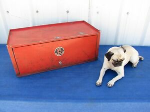 Vintage Antique Cornwell Mechanics Chest Tool Top Box 2 Drawer Made In Ohio Usa