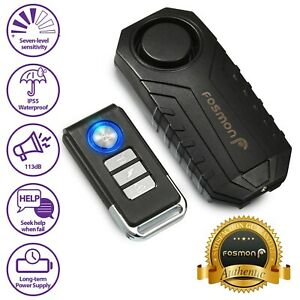 Loud 113db Wireless Anti theft Vibration Motorcycle Bike Security Alarm Remote