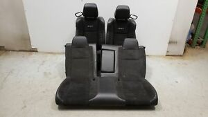 2016 Dodge Challenger Srt Seats Front Rear Left Right Black Leather W Suede Oem
