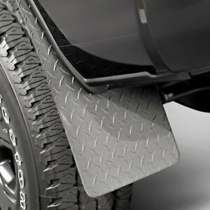 For Toyota Tacoma 2003 2006 Dee Zee Dz1808tb Black Diamond Plate Mud Flaps