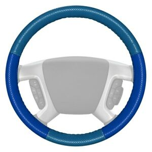 For Ford Econoline 99 01 Steering Wheel Cover Europerf Perforated Sea Blue