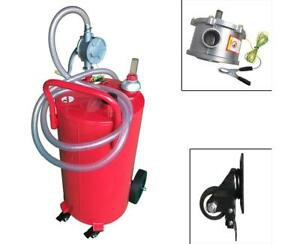Gas Fuel Tank 35gal Capacity Caddy Transfer Portable Tank With Pump Automotive