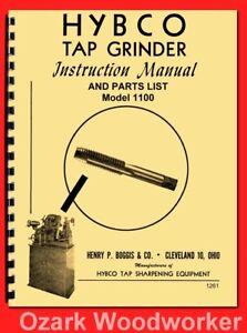 Hybco Model 1100 Tap Grinder Instructions Parts Manual 1261