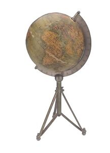 Antique Miniature 4 Inch Terrestrial Desk Globe Circa 1880