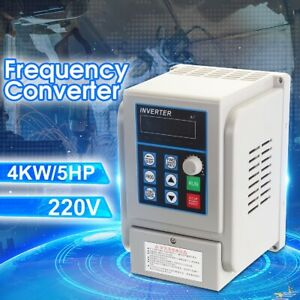 220v 4kw 6hp Convertitore Frequenza Inverter Drive Variable Vfd 175 125 115mm