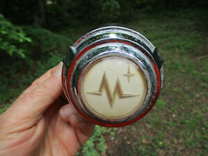 1956 Mercury Custom Monterey Montclair Steering Wheel Horn Button