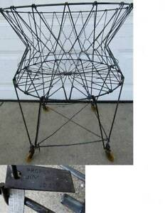 Antique Allied Collapsible Wire Laundry Basket W Wheels Prop Of Jim Beam