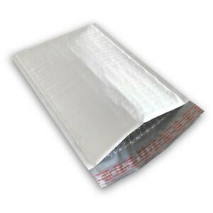 200 2 8 5x12 Poly Bubble Mailers Self Seal White Plastic Bags Envelopes