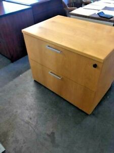 2 Drawer Lateral Size File Cabinet By Kimball Office Furniture In Lt Oak Wood
