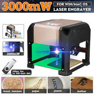 2000mw Usb Laser Engraving Cutting Machine Diy Logo Printer Cnc Engraver Desktop