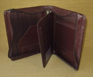 Classic 1 5 Rings Burgundy Sim Leather Section Franklin Covey Planner binder