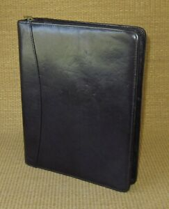 Classic 1 5 Rings Black Leather Franklin Covey quest Zip Planner binder