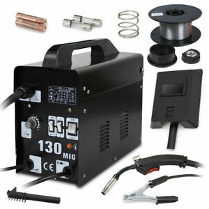 Welder Gas Less Flux Core Wire Automatic Feed Welding Machine W Mask Mig 130