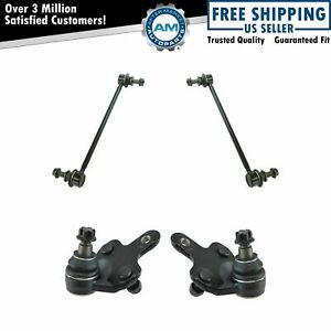 4 Piece Suspension Kit Lower Ball Joints W Sway Bar End Links For Toyota Sienna