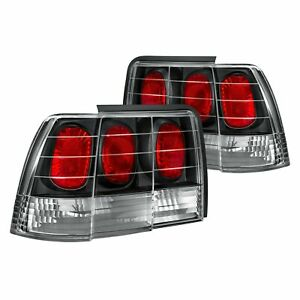 For Ford Mustang 1999 2004 Lumen 88 1001098 Black red Euro Tail Lights