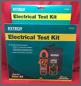 Extech Instruments Etk30 Electrical Test Kit Multi meter Ac Clamp Meter