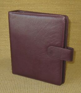 Classic 1 25 Rings Burgundy Leather Franklin Covey similar Planner binder