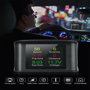 Universal Obd2 Obdii Car Gps Hud Head Up Display Overspeed Warning System Auto