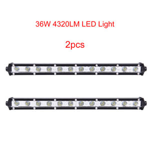 2x 36w Spot Slim Lamp Car Truck Cree Led Lights Work Light Bar Fog Driving Lamp