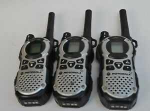 Lot Of 3 Motorola Talkabout Mt352tpr Gmrs Two Way Radio Walkie Talkie