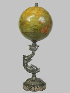 Antique 6 Inch Terrestrial Desk Globe By E Bertaux Paris Circa 1875