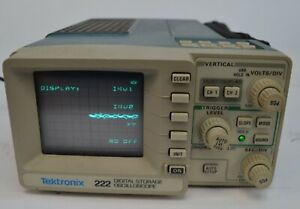 Tektronix 222 Digital Storage Dual Channel Oscilloscope 10mhz W Original Case