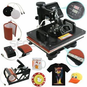 Plate Hat Printer 5 In 1 Digital Heat Press Machine Sublimation For T shirt mug
