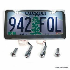 Stainless Steel License Plate Lighted Bolts Hot Rods Kicbboltsb Hot Rod