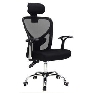 Ergonomic Mesh High Back Office Chair Computer Desk Task Executive With Black