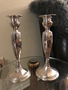 Gorham Sterling Silver Candle Stick Holders 8 5 638 Gr Estate Item