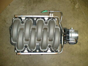 11 14 Mustang Gt Engine Intake Manifold Rails Throttle Body 5 0 Dohc Coyote