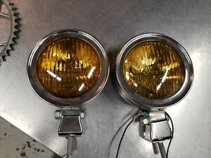 Pair Vintage Fog Lights Amber Lens Perfection Brand Car Truck