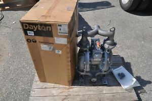 Dayton 22a598 1 1 2 Cast Iron Air Double Diaphragm Pump 107 Gpm 212f New