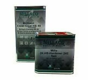 2k Clear Lacquer 5l Millaco Normal Activator Hardener 2 5l