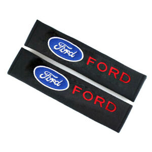 2x New Cotton Car Logo Seat Belt Shoulder Pad Mat Cover Sofe Cushion For Ford